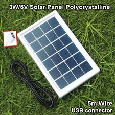 3w 5V Solar Panel Polycrystalline with 5M Wire & USB Cable