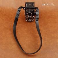 New Cam-in Leather Black Neck/Shoulder Strap for Pentax Rolleiflex 2.8F 3.5F