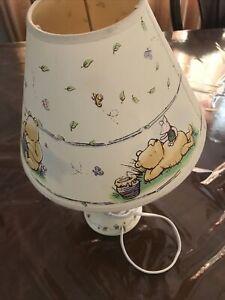 VINTAGE CLASSIC WINNIE THE POOH & PIGLET MINI NURSERY LAMP WITH SHADE