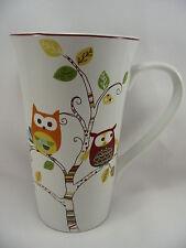 Enchanted Woods Porcelain Coffee Latte 16 oz Cup Mug Owls Paris 222 Fifth New