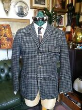 Vintage 1960s Burleigh Tweed Hacking Modernist Mod Jazz Jacket Blazer.Small - 40