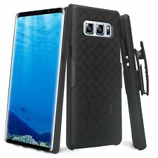 For Samsung Galaxy Note 8 - Black Holster Swivel Belt Clip Hard Slim Case Cover