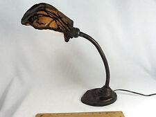 Table Lamp Art Deco Antique Desk 1920s Cast Metal Shade Custom Made Velvet Rare