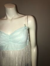 Victoria's Secret Sexy Little Things Large NWT Teddy Night Gown Blue White Sexy!