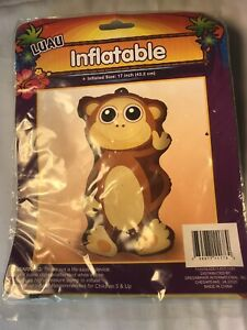 """Luau Inflatable Monkey Chimp 17"""" Tall Brown Party Decor"""