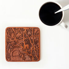 San Diego, CA map coaster One piece  wooden coaster   Multiple city IDEAL GIFTS