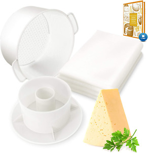 Cheese Mold with a Follower and Cheesecloth – Cheese Making Kit – Cheesemaking S