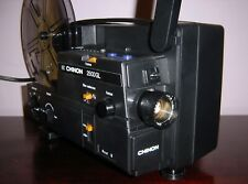CHINON 2500GL DUAL 8 Super 8 / Reg 8mm PROJECTOR ADJUST SPEED  in BOX ~SERVICED~