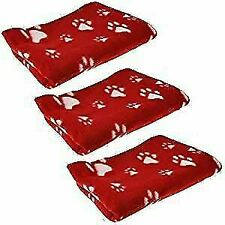 7298 Pet Blanket, Pack of 3 - Red (5055180672986)