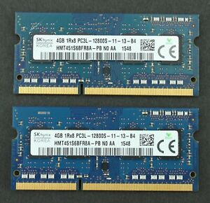 Laptop Ram - SK hynix 8GB (2X4GB) 1RX8 PC3L 12800S DDR3 1600MHz