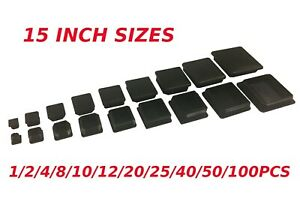 Square Tube Insert Plugs Pipe Blanking End Edge Caps Bungs Made in Germany Pack of 36 25x25mm Square Before Purchasing This Size, Please See 2nd Image for Dimensions and Ordering Guide