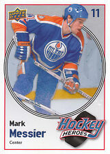 09/10 UPPER DECK HOCKEY HEROES MARK MESSIER OILERS #HH21 *9059