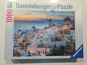 Ravensburger-EVENING IN SANTORINI1000 Piece Jigsaw Puzzle. 2017. NEW