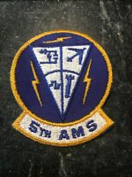 "5th Aircraft Maintenance Squadron Rare 70s 80s Patch 3"" USAF Minot AFB Cold War"