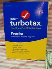 Intuit Turbotax Premier Investments & Rental Property Federal State 2016 New USA