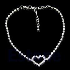 Women Sexy Love Gift Heart Rhinestone Foot Anklet Wedding Jewelry Ankle Bracelet