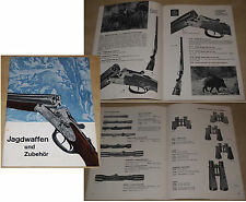 Katalog JAGDWAFFEN UND ZUBEHÖR Dynamit Nobel-Genschow Köln-Niehl 1964