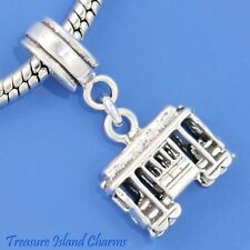 Cable Street Car San Francisco 925 Sterling Silver European Bead Charm Euro