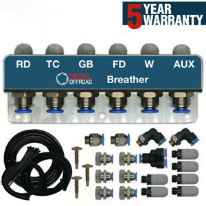 6-Point STEEL DIFF BREATHER KIT FITS FITS ISUZU D-MAX HOLDEN COLORADO RODEO