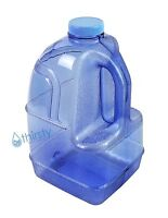 Blue 1 Gallon Plastic Water Bottle BPA Free Jug Container Canteen Eco Friendly