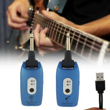 Wireless Guitar System 6 Channels Audio Transmitter Receiver 2.4GHZ Rechargeable