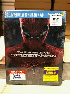 The Amazing Spider-Man 3D (Blu-ray Disc, 2012) NEW OOP Best Buy MINT STEELBOOK