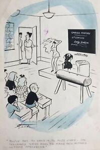 Leslie Starke New Yorker artist Original Cartoon Nude Godiva published Men Only