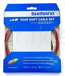 Shimano Optislick Road Bicycle Shift Cable Set Red fit XT,105,Tiagra ST-RS505