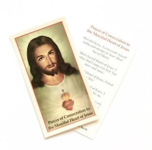 CONSECRATION TO THE MERCIFUL HEART OF JESUS - Prayer Card