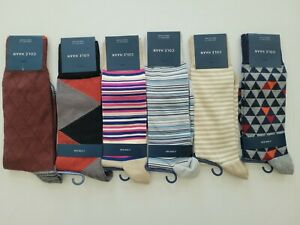 Cole Haan Mens 1 Pair Fashion Dress Socks Shoe Size 7-12 Buy More Save More