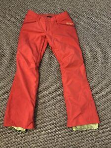 Burton Snowpants Snowboard Pants Pink Orange Coral DryRide Womans Size M Medium