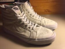 used Vans Sk8-Hi Reissue zip premium leather high-top skateboarding shoes