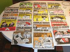 LOT DE 16 CHARLIE HEBDO COUVERTURE CHARB - LUZ- HONORE -CATHERINE