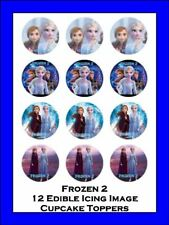 Frozen 2 12 Edible Icing Cupcake Toppers Birthday Cake Decorations ##1