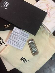 MONTBLANC URBAN SPEED STEEL MONEY CLIP used condition with box and paperwork