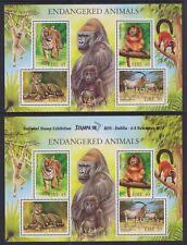 Eire Ireland 1998 Mint MNH 2 Minisheets Endangered Animals Dublin Stampa RDS