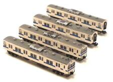 T Gauge 1:450 Scale JR 103 Kansai 4 Car Set (Cream and Blue Stripe) 030