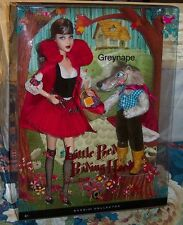 Little Red Riding Hood and the Wolf Barbie Giftset NRFB Mattel 2008 Silver Label