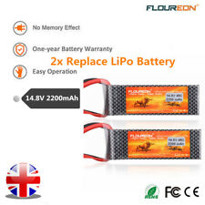 2pcs 2200mah 4s1p 14.8v With T Plug Lipo Battery for RC Evader BX Car Drone FPV