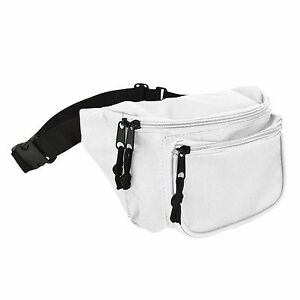 DALIX Fanny Pack with 3 Pockets Blue Black Maroon Travel Waist Pouch Adjustable