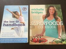 """""""The Low GI Handbook"""" & """"Superfoods Cookbook"""" Michelle Bridges (Softcovers) *VGC"""