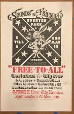 BIG STAR Overton Park MEMPHIS 1974 CONCERT POSTER Alex Chilton LEVIATHAN VG-
