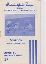 HUDDERSFIELD TOWN v ARSENAL 55-56 LEAGUE MATCH