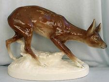 40 cm große Porzellanfigur scheues Reh signiert Wanka,Royal Dux Porzellan