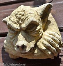 """Gargoyle face wall plaque stone home or garden gothic ornament 13cm/5"""" H"""
