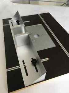 Frästischplatte mit Anschlag für  MAKITA RT0700CX2J Oberfräse Siebdruck