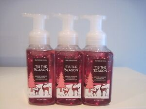 BATH AND BODY WORKS TIS THE SEASON GENTLE FOAMING HAND SOAP X3