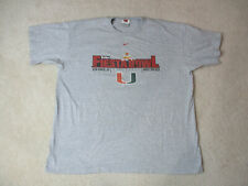 Nike Miami Hurricanes Shirt Adult 2XL XXL Gray Orange Fiesta Bowl Football Mens