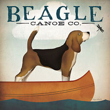 Beagle Canoe Co Ryan Fowler Vintage Advertisement Ads Animals Dogs Print Poster