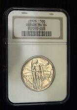 1928 Oregon Comm. Half Dollar  NGC MS 64 Scarce (B7456)